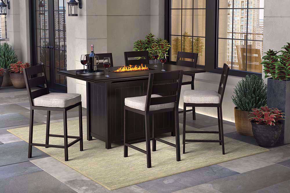 Picture of Perrymount Bar Firepit with Six Stools