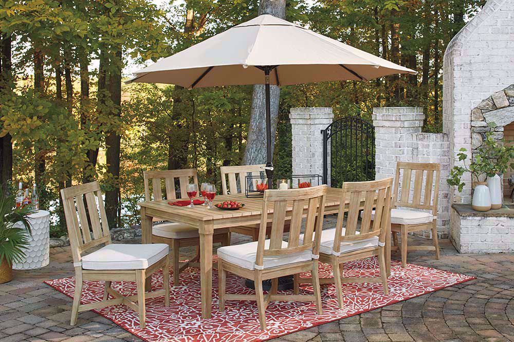 Picture of Clare View Dining Table With Umbrella Option