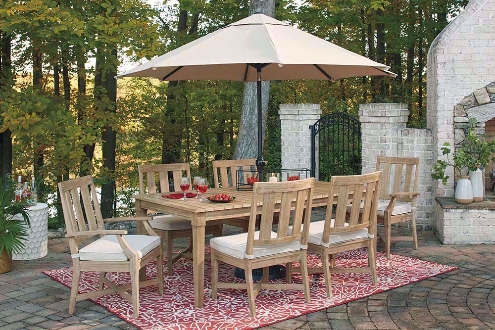 Picture of Clare View Dining Table with Six Arm Chairs