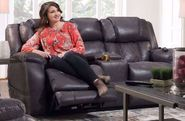 Daytona Steel Power Recline Console Loveseat