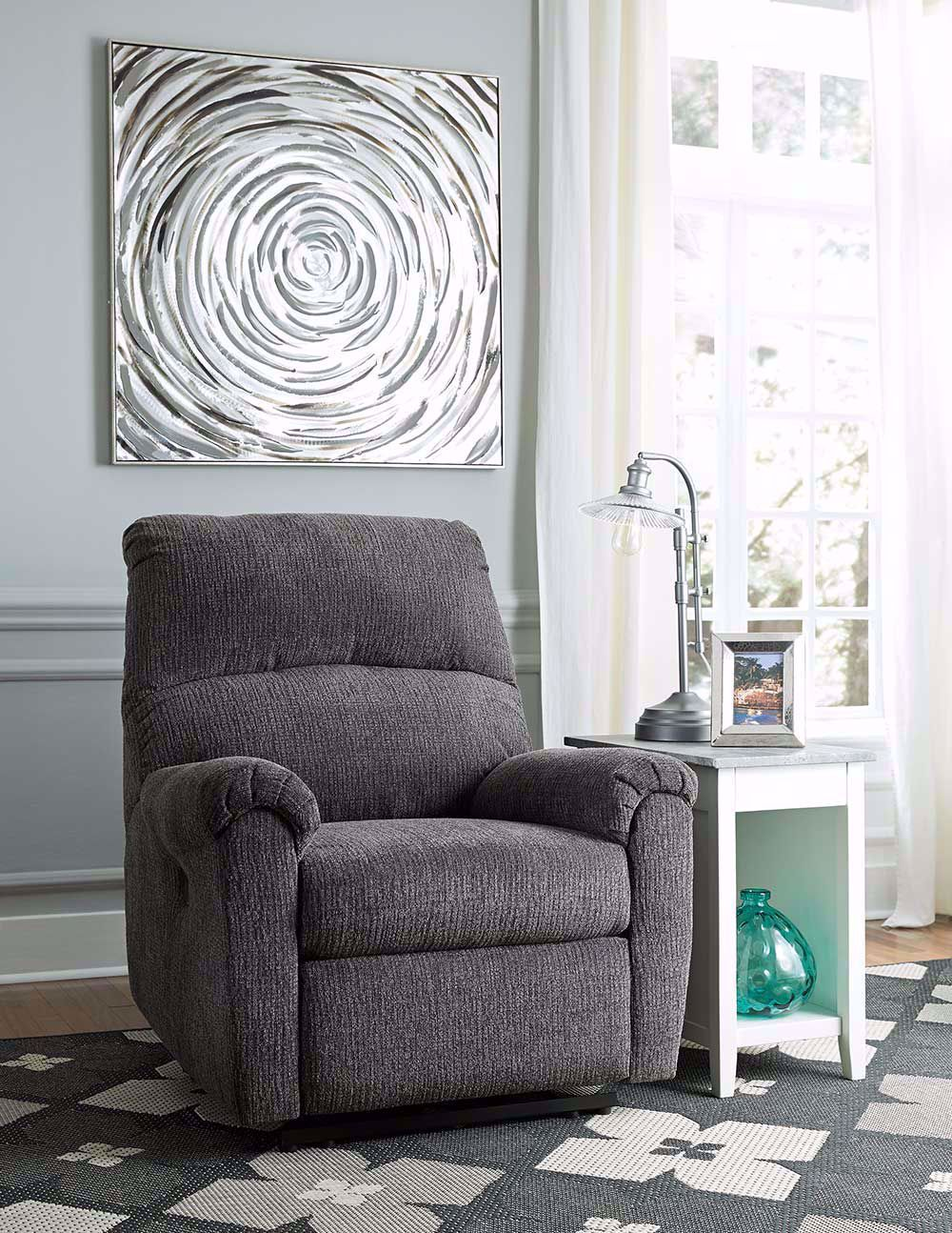 Picture of McTeer Charcoal Power Recliner