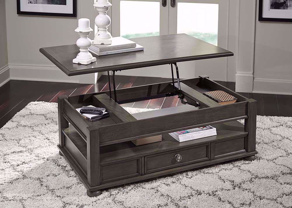 Picture of Devensted Gray Lift Top Cocktail Table