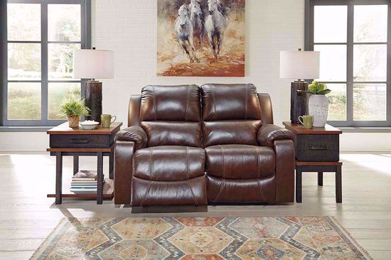 Picture of Rackingburg Mahogany Reclining Loveseat