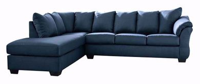 Darcy Blue Two Piece Sectional