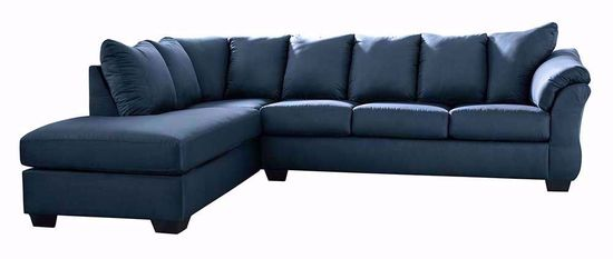 Picture of Darcy Blue Two Piece Sectional