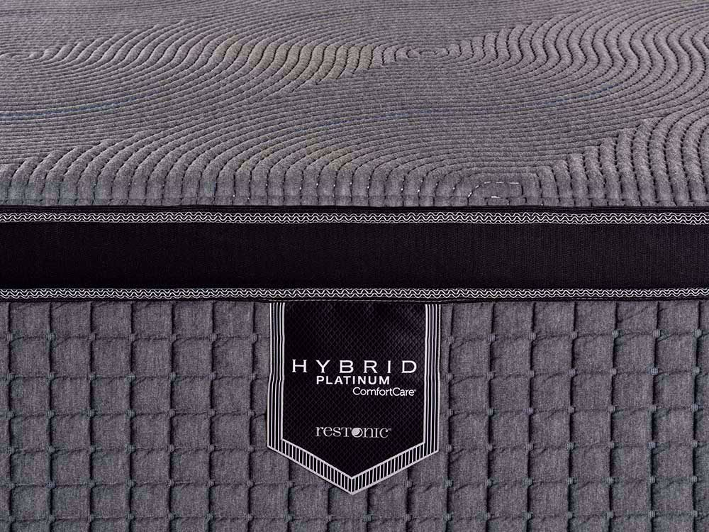 Picture of Restonic Caress Hybrid Twin Mattress Set