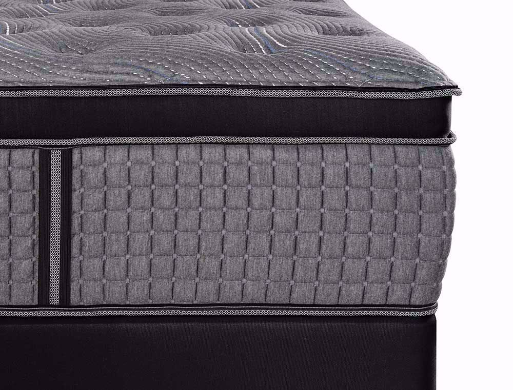 Picture of Restonic Caress Plush EuroTop Twin Mattress Set