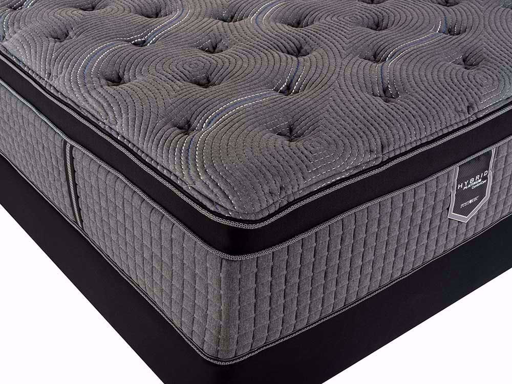Picture of Restonic Caress Plush EuroTop Full Mattress Set