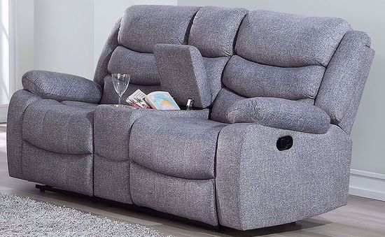Picture of Granada Gray Console Reclining Loveseat