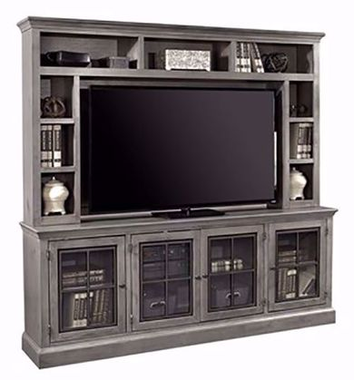 Churchill Gray Smoke 84 Inch Console and Hutch