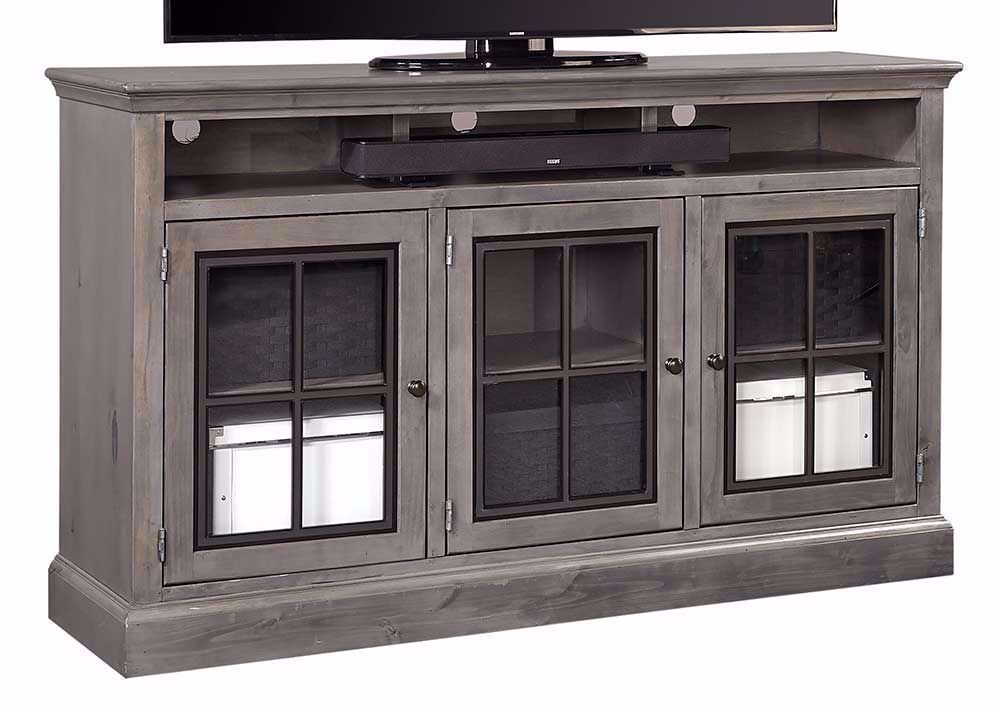 Picture of Churchill Grey Smoke 66 Inch Highboy Console