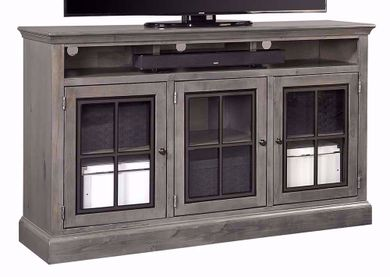 Churchill Grey Smoke 66 Inch Highboy Console