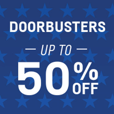 Doorbusters Up to 50% off