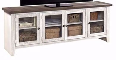 Eastport Driftwood White 74 Inch Console