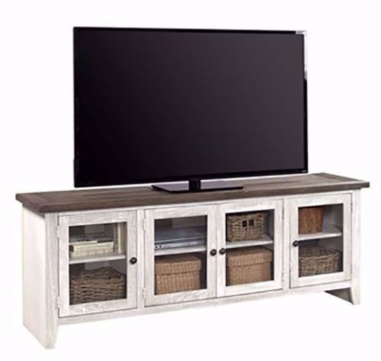 Picture of Eastport Driftwood White 74 Inch Console
