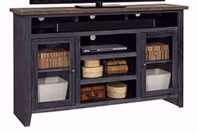 Eastport Driftwood Black 65 Inch Console