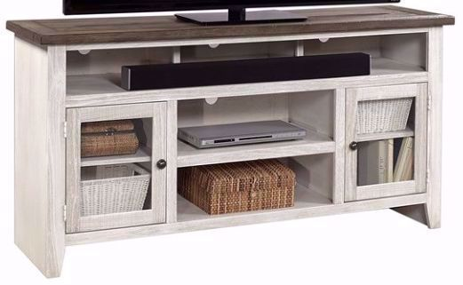 Picture of Eastport Driftwood White 65 Inch Console