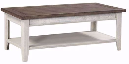 Picture of Eastport Driftwood White Cocktail Table