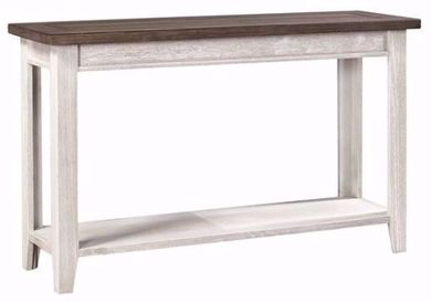 Eastport Driftwood White Sofa Table