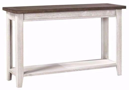 Eastport Driftwood White Sofa Table