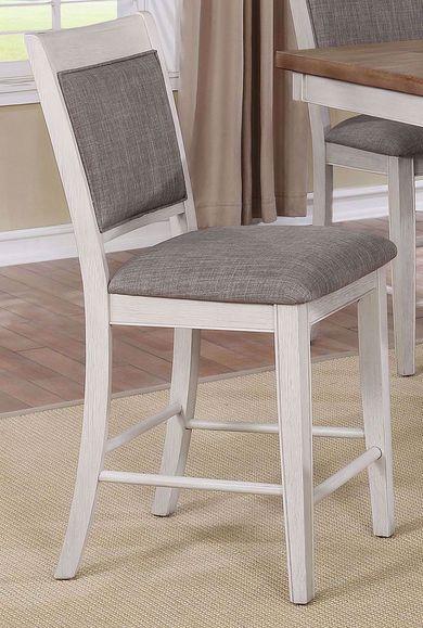 Fulton White Counter Upholstered Stool