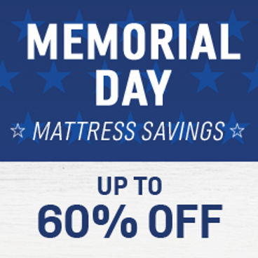 Memorial Day Mattress Savings Up to 60% off