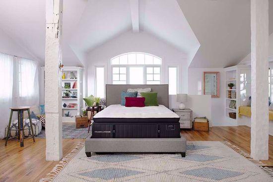 Picture of Stearns & Foster Cassatt Plush Euro Pillowtop King Mattress Set