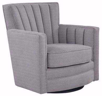 Modern Velvet Sable Swivel Chair