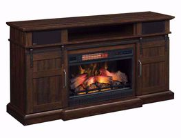 60 Inch Hemson Mantel with Fireplace Insert
