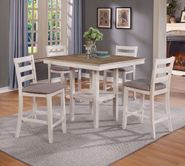 Tahoe White Five Piece Counter Set