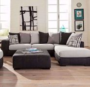 Discovery Black Two Piece Sectional