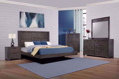 Logic Grey King Bedroom Set