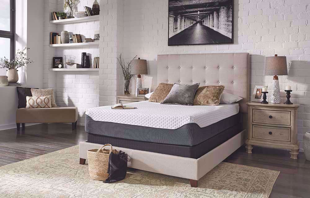 Picture of Ashley Chime Elite 12 Inch Queen Mattress Set