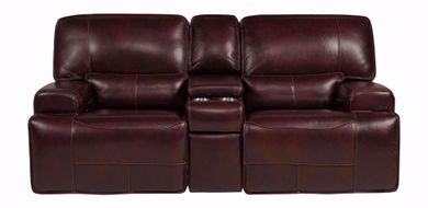 Longhorn Cabernet Power Console Loveseat