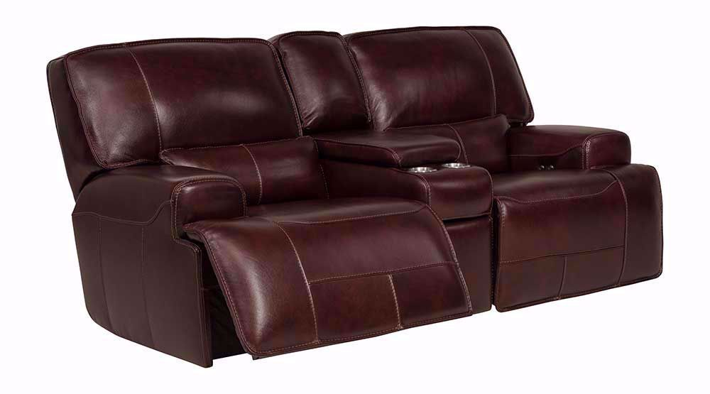 Picture of Longhorn Cabernet Power Console Loveseat