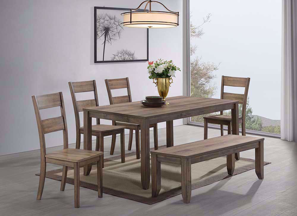 Picture of Sean Table with Four Chairs and One Bench