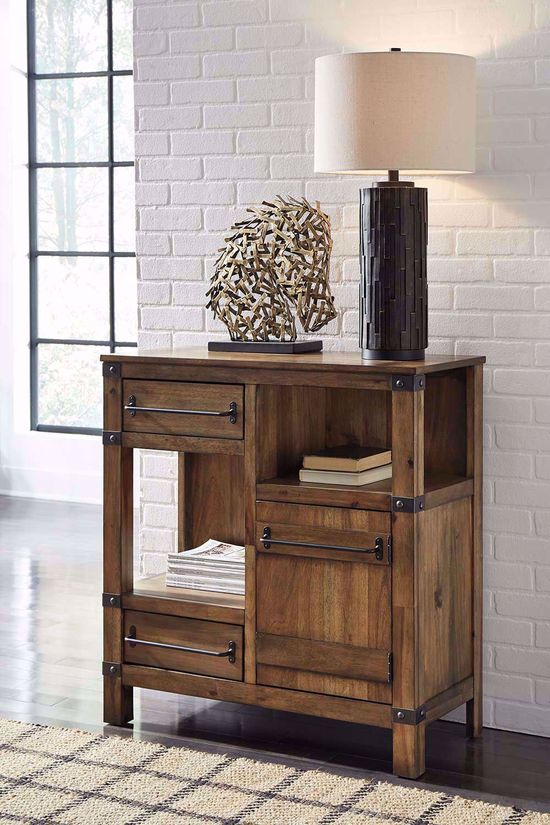 Picture of Roybeck Light Brown and Bronze Accent Table