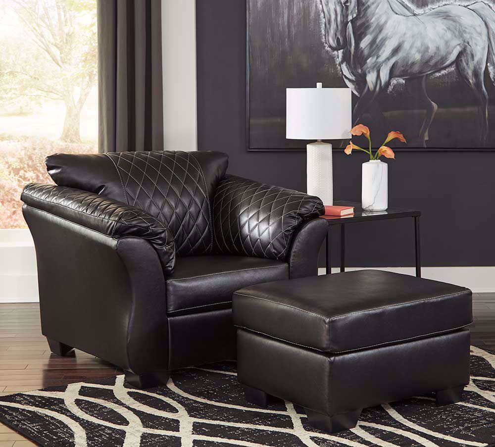 Picture of Betrillo Black Ottoman