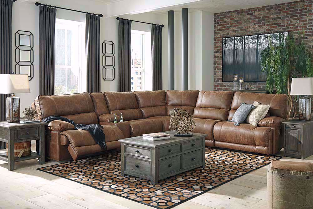 Picture of Thurles Saddle Six Piece Power Reclining Sectional