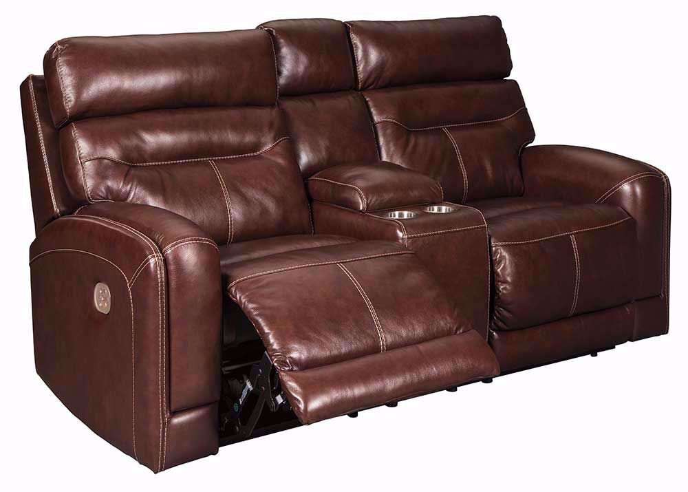 Picture of Sessom Walnut Power Console Loveseat