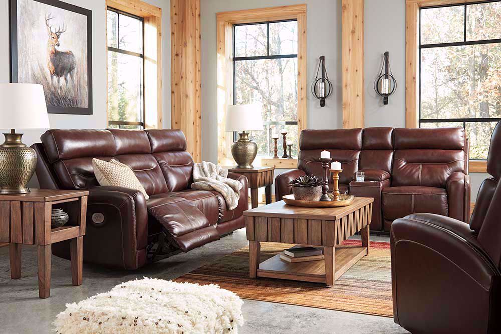 Picture of Sessom Walnut Power Reclining Sofa