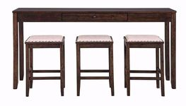 Rokane Sofa Bar Table with Three Stools