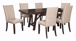 Rokane Dining Table with Six Chairs