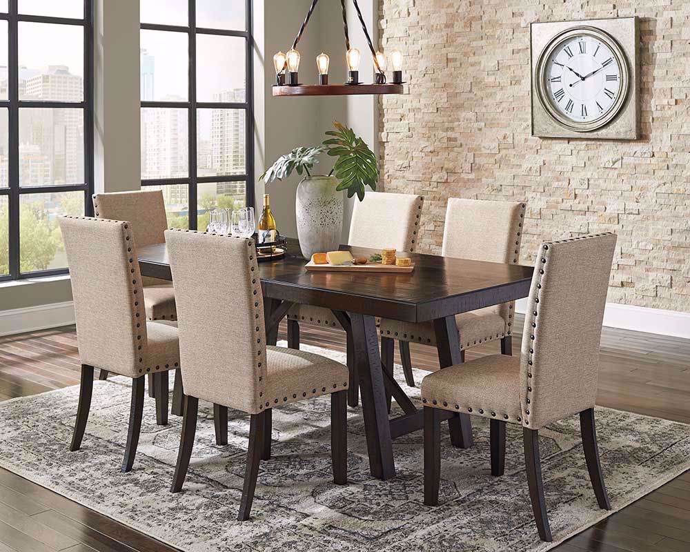 Picture of Rokane Dining Table with Six Chairs