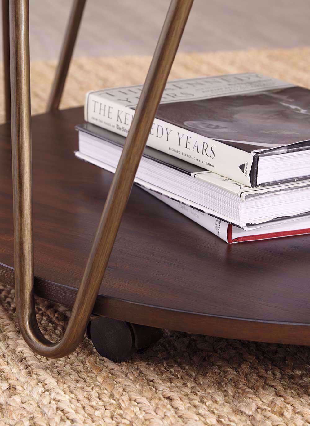 Picture of Lettori Brown Round Cocktail Table