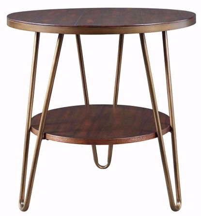 Lettori Brown Round End Table