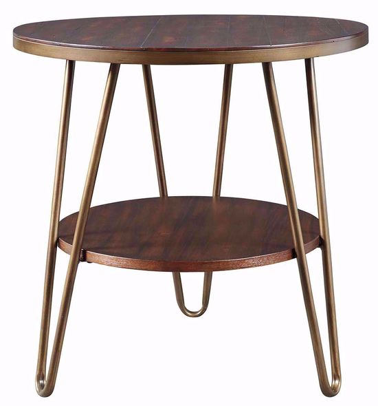 Picture of Lettori Brown Round End Table
