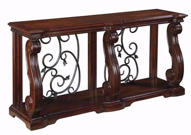 Alymere Brown Sofa Table