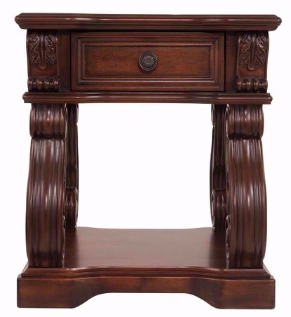 Alymere Brown Square End Table