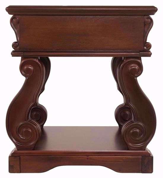 Picture of Alymere Brown Square End Table